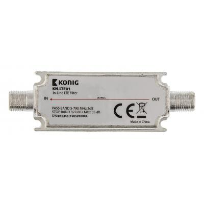 König : Inline LTE filter - Zilver