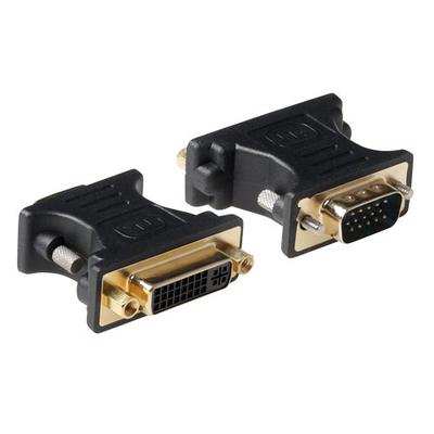 ACT Verloop adapter DVI-A female naar VGA male Kabel adapter - Zwart