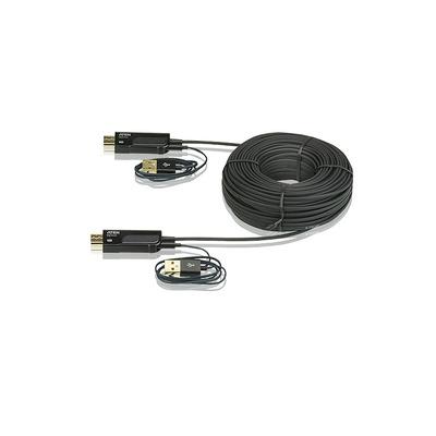 ATEN HDMI ACTIVE OPTICAL CABLE 100M 4Kx2K PLUG & PLAY HDMI kabel - Zwart