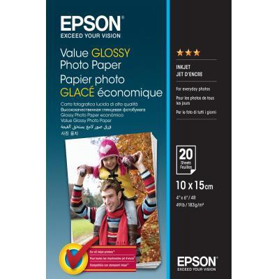 Epson fotopapier: Value Glossy Photo Paper - 10x15cm - 20 sheets