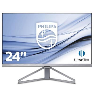 Philips monitor: Moda Slanke monitor met Ultra Wide-Color 245C7QJSB/00 - Zwart, Grijs