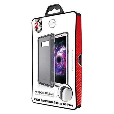 Itskins mobile phone case: Spectrum Translucent Black Semi-Rigid Case for Samsung Galaxy S8 + G955 Black - Grijs