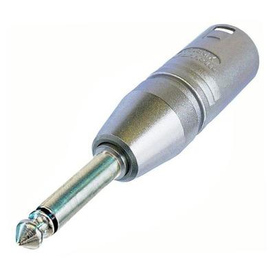 Neutrik 3p XLR NA2MP adapter Kabel adapter - Zilver