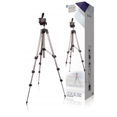 König Lichtgewicht statief voor foto- en videocamera Tripod - Zwart, Zilver