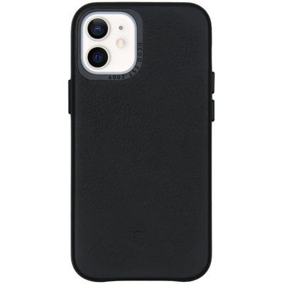 Leather Backcover iPhone 12 Mini - Zwart - Zwart / Black Mobile phone case
