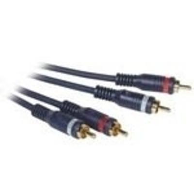 C2G 3m Velocity RCA Audio Cable - Zwart
