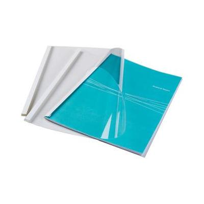 Fellowes 12mm Standaard thermische bindkaft Binding cover - Transparant, Wit