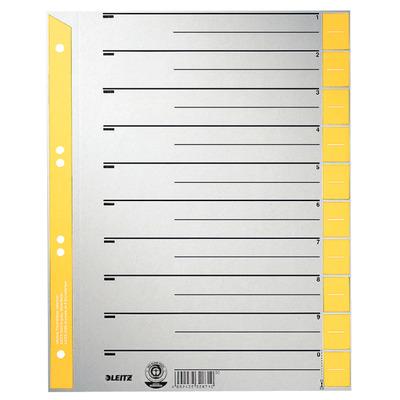 Leitz A4, 240 x 1 x 300 mm, 230 g/m² Indextab - Grijs, Geel