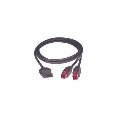 Epson printerkabel: PUSB Y cable: 010842A CYBERDATA P-USB 3M (EDG) - Zwart