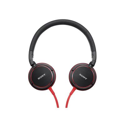 Sony MDR-ZX600AP Headset - Zwart, Rood