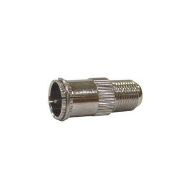 Digiality coaxconnector: F-connecor, push-on Quick coupling, 100 PCS - Roestvrijstaal