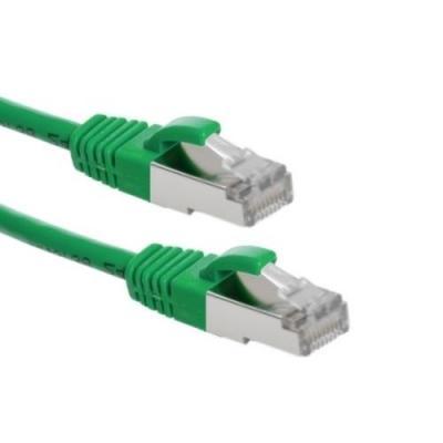 2e interconnection netwerkkabel: Cat.6A S/FTP Patchkabel, AWG26, LSZH, Groen, 10m