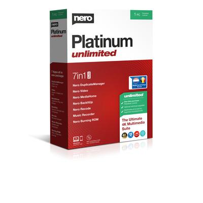 Nero Platinum Unlimited Algemene utilitie