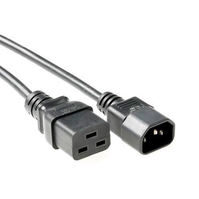 ACT 230V connection cable C14 - C19 2 m Electriciteitssnoer