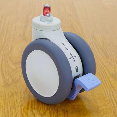 Ergotron multimedia accessoire: SV 3-Function Caster - Grijs, Wit