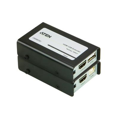 Aten AV extender: HDMI USB Extender Audio/Video + USB Extender - Zwart, Grijs