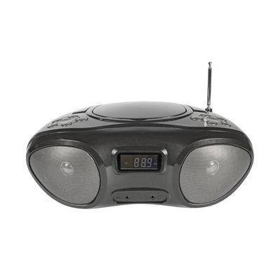 König CD-radio: Draagbare CD-Speler AUX / CD / MP3 CD / Radio Zwart/Antraciet