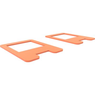 SmartMetals Set van twee afsluitplaatjes voor 172.0100, Oranje Muur & plafond bevestigings accessoire