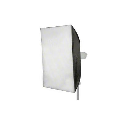 Walimex softbox: Softbox 60x90cm + Universal-Adapter - Zwart, Zilver, Wit