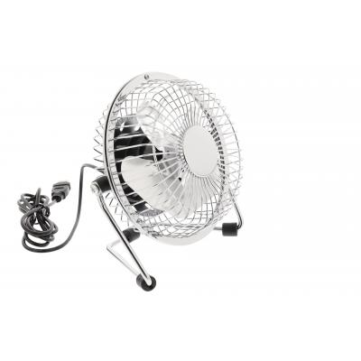 Hq ventilator: 2.5W, USB, 360°, Metal, 1m - Zilver