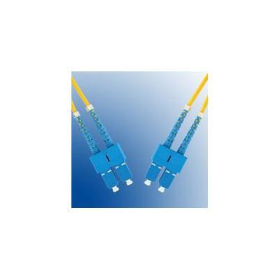 Microconnect fiber optic kabel: SC/PC-SC/PC, 4M, 9/125, SM - Geel