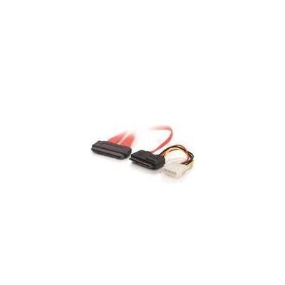 C2g kabel: 0.5m SAS/SATA Cable - Rood