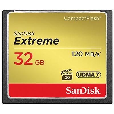 Sandisk 32GB Extreme Flashgeheugen - Zwart, Goud, Rood