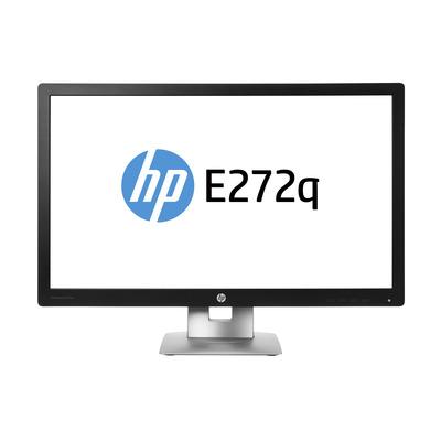 HP EliteDisplay E272q Monitor - Zwart, Zilver - Sparepart