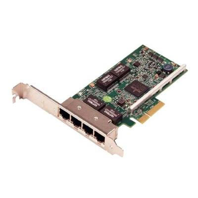 Dell netwerkkaart: Broadcom 5719 Quad Port 1Gb netwerkinterfacekaart - laag profiel - Groen