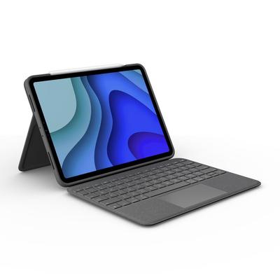 Logitech Folio Touch - QWERTY Mobile device keyboard - Grijs