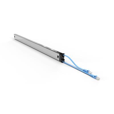 PATCHBOX ® Plus+ Cat.6a Cassette (STP, Blue, Long Range 1.8m + 0.7m / 46RU) Netwerkkabel - Blauw