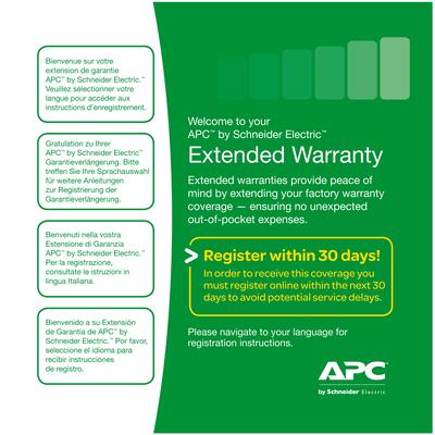 APC Service Pack 3 Year Extended Warranty Garantie