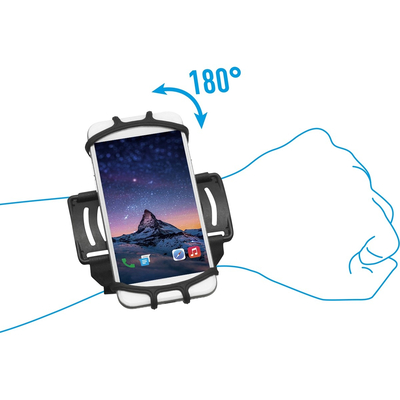 Mobilis Wrist/Arm Band for smartphone and handheld device Houder - Zwart