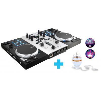 Hercules DJ controller: Air S Party Pack - Zwart, Zilver