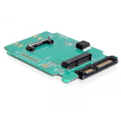 DeLOCK 61881, SATA 22-pin / mSATA Interfaceadapter - Groen