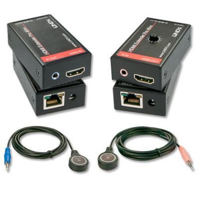 Lindy AV extender: HDMI & IR CAT6, 40m - Zwart