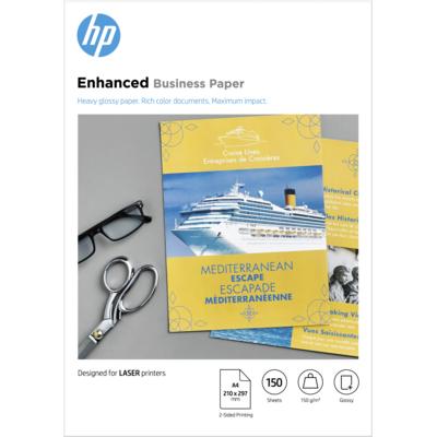 Hp papier: Professional Laser Paper, glanzend, 150 gr/m², 150 vel, A4/210 x 297 mm - Wit