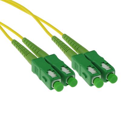 ACT 20m LSZH Singlemode 9/125 OS2 glasvezel patchkabel duplexmet SC/APC connectoren Fiber optic kabel - Groen,Geel