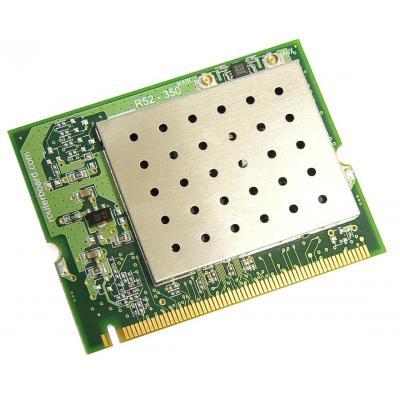 Mikrotik AR5414, 4920-6100 MHz, 802.11a/b/g, 25 dBm, miniPCI, 2 x uFI, 800 mA Netwerkkaart - Groen