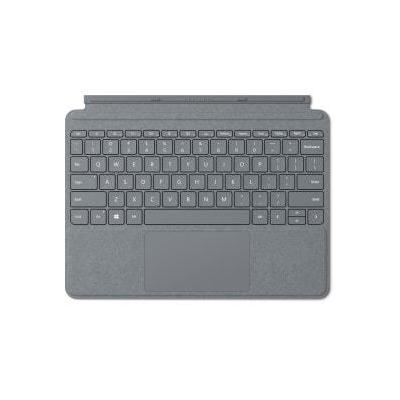 Microsoft Surface Go Signature Type Cover Alcantara - QWERTY Mobile device keyboard - Platina