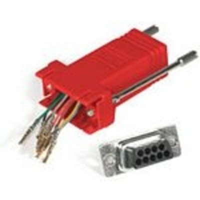 C2G RJ45/DB9M Modular Adapter Kabel adapter - Rood