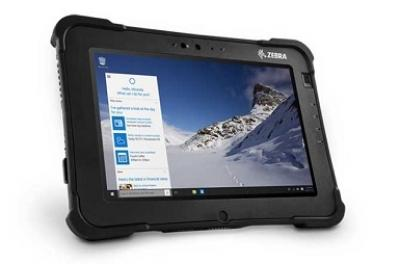 Zebra L10 XSLATE NFC WWAN W/GPS 4GB/64GB EMMC 500 NIT ANDR ROW Tablet - Zwart