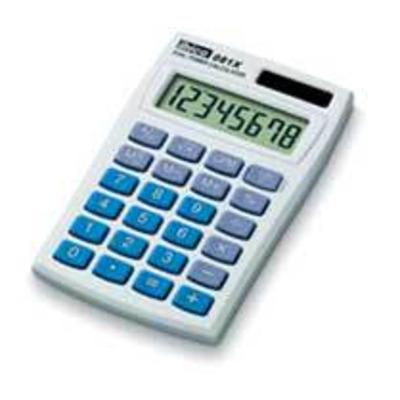 Ibico 081X Calculator - Blauw, Wit