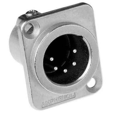 Amphenol XLR Chassis Male Type D 5P Kabel adapter - Metallic