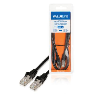 Valueline FTP CAT5e RJ45 mannelijk - RJ45 mannelijk 1.00 m zwart Netwerkkabel