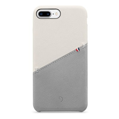 Decoded Leather Snap-On Case for iPhone 7 Plus, White Mobile phone case - Wit