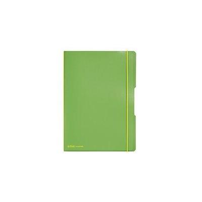 Herlitz Noteb.flex PP A4, 40squ+40rul.l´green my.book