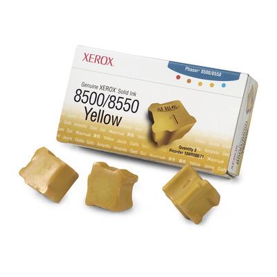 Xerox Originele Solid Ink 8500/8550 geel (3 blokjes) Inkt stick