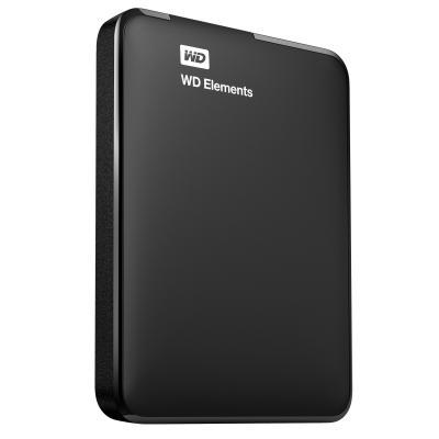 Western digital externe harde schijf: Elements Portable - Zwart