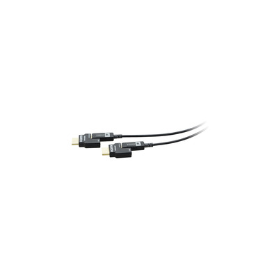 Kramer Electronics Active Optical 4K Pluggable HDMI Cable, 15.2m, Black HDMI kabel - Zwart